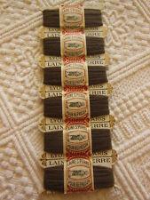 collection mercerie ancienne carte de laine SAINT PIERRE marron  T2
