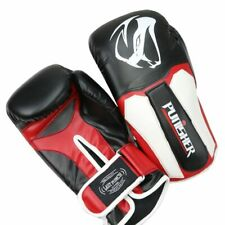 LastPunch 12oz Adult Size Black and White Viper Punisher Boxing Gloves -