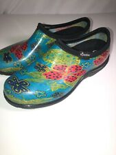 womens sloggers size 8 Teal Red And Green Gardening Shoes. Great Preowned
