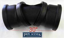 Il suolo TUBO 0-90 ° REGOLABILE piega NERO 30 ° 60 ° DOUBLE SOCKET girella congiunta 110mm