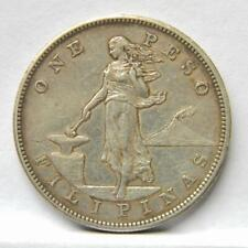 US PHILIPPINES 1903-S large silver Peso, 1st yr of issue; nicely toned XF