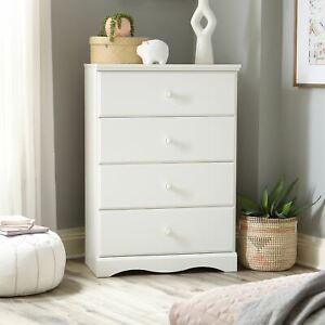 Sauder Storybook 4-Drawer Dresser, Soft White