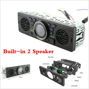 1 Din Car Bluetooth Audio In-Dash MP3 Radio Player Built-in 2Pcs Speaker Stereo