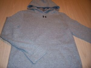 UNDER ARMOUR COLDGEAR LOOSE FIT LS GRAY HOODIE BOYS LARGE 14-16 EXCELLENT