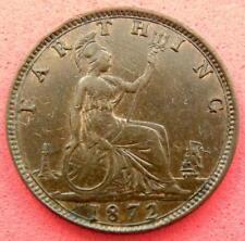 1872 - Victoria - Farthing - Young Head 3+B R5 - EF - SN8725