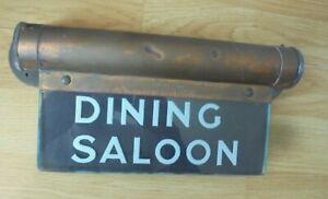 VINTAGE DINING SALOON GLASS SIGN INTERNALITE KFM ENGINEERING CO LTD LONDON