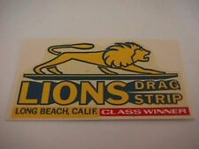 "vintage drag racing decal "" Lions Drag Strip"""