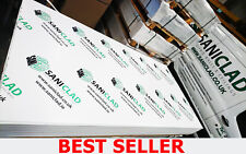 1.5mm/2mm/2.5mm White Hygienic PVC Wall Cladding Sheets 8ft/10ft long x 4ft wide
