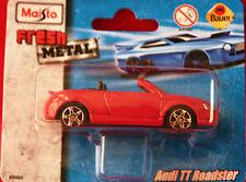 ** audi tt roadster ** maquette de voiture ** MAISTO ** FRESH METAL ** NEUF **. rouge
