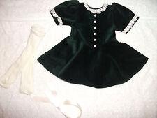 American Girl Doll Molly Green Velvet Christmas Holiday Dress (retired)