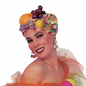 Adult Fruit Headpiece - Exotic Miranda Carman Fancy Dress Carnival Accessory Hat
