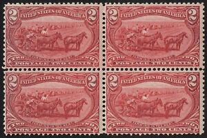 US Sc# 286 *MINT OG H* { BLOCK OF 4 TRANS-MISS } 2c FARMING IN THE WEST OF 1898