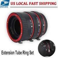 Canon EOS EF Macro Adapter Lens Ring Set Extension Tube Ring Kit w/Storage Bag