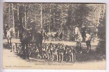 CPA SENONCHES 28  - DEPART CHASSE A COURRE ROND DE DIANE CHIEN CHEVAL 1910 ~C56