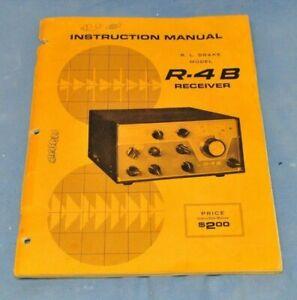 Original Drake R-4B Receiver Operating Manual