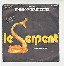 """LE SERPENT Film H. VERNEUIL Vinyle 45T 7"""" SP Ennio MORRICONE -RCA 40041 F Rèduit"""