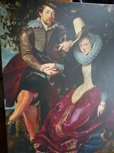 ELIZABETHAN MAN AND WOMAN LARGE REPRODUCTION GICLEE PRINT Large 36' x 27""