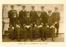 RMS Titanic Ship White Star Line, Postcard. Capt Smith and Crew, Iceberg