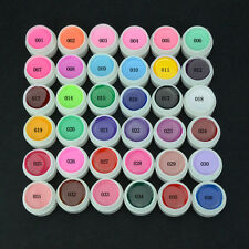 36 Mix Pure Color Pots UV Gel Polish Builder Soak Off Nail Art Extension Tips