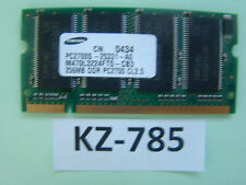 256MB Samsung DDR1 Laptop RAM PC2100S 266MHzSO-DIMM M470L3224FT0-CB0 #KZ-785