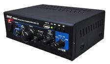 New Pyle PTAU23 Mini 2x40 Watt Stereo Power Amplifier w/ USB/AUX Inputs Amp