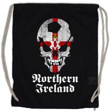 CLASSIC NORTHERN IRELAND IRISH FOOTBALL SOCCER SKULL Drawstring Bag Fan