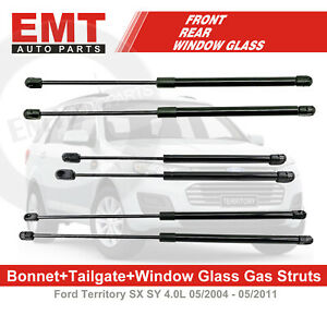 Bonnet Tailgate Window Glass Gas Struts For FORD Territory SX SY 05/2004-05/2011
