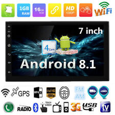 "Android 8.1 7"" HD Touch Screen Car Bluetooth Stereo Radio GPS Wifi Mirror Link"
