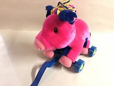 CHOO CHOO LAROO PINK PEPPY THE PIG PLUSH Pull Along Toy