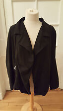 NWT: DKNY PURE Black Lambskin Suede and Stretch Knit Combo Jacket, Lg, $995!!