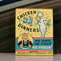 Vintage Matchbook M6 Washington Bridgeport Millwheel Tavern Cafe Chicken Dinners