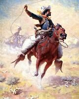 The Roping by William Robinson Leigh. Life Art .  11x14 Print