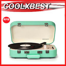 CROSLEY COUPE BLUETOOTH PORTABLE TURNTABLE 3 SPEED PITCH CONTROL TURQUOISE (RFB)