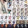Women Satin Silk Twilly Scarf Handbag Handle Wrap Neck Hair Tie Ribbon Scarves