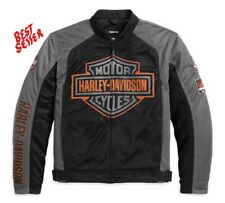 Harley-Davidson® Men's Bar & Shield Logo Mesh Riding Jacket Black 98233-13VM