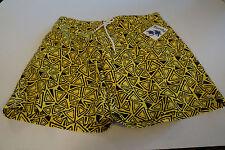 Trunks Surf & Swim Co Broad Shorts Men's XL Summer Beach Swimwear Yellow Black