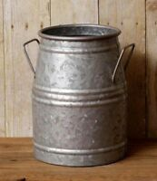 FARMHOUSE MILK CAN Decorative Galvanized Utensil Holder Vintage Look Primitive