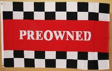 Preowned Flag 3' X 5' Deluxe Indoor Outdoor Business Banner