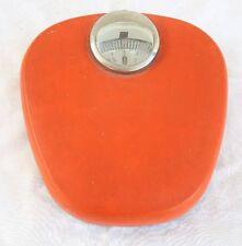 Kultige orange 130kg-Personenwaage/Waage aus den 60er/70ern von Krups