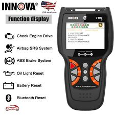 Innova 7100P ABS SRS Oil Battery OBD CAN Code Reader Diagnotsic Tool Scanner