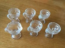Easter Decoration 6 Vintage French Pressed Glass pelican egg cups eggcups