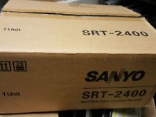"""New in Open Box""  VCR Sanyo SRT-2400 Real Time Video Cassette Recorder"