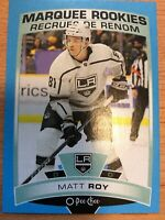 O-Pee-Chee 2019-2020 MATT ROY BLUE BORDER ROOKIE HOCKEY CARD #506