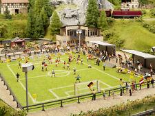 NOCH Artnr 66830 , Fußballplatz m Vereinsheim,micro-sound,Tribüne,Flutlicht *NEU