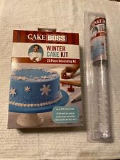 Cake Boss Decorating Tools Winter and Holiday Cake Kit With Fondant Rolling Pin