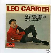 45 RPM EP LEO CARRIER LES FILLES D'UNE SEULE NUIT