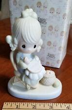 """Mother Sew Dear"" Enesco Precious Moments 1979 Jonathon & David E-3106 Figurine"