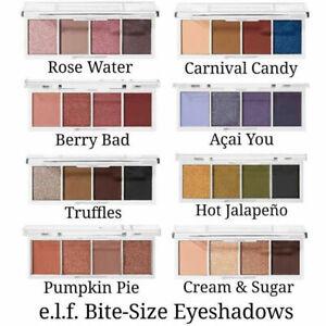 ELF Makeup MINT MELT & BITE SIZE Pigmented QUAD EYESHADOW Mini Palette 4 Shades