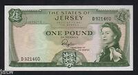 JERSEY P-8a. (1963) 1 Pound.. Padgham.. Prefix D..  UNC