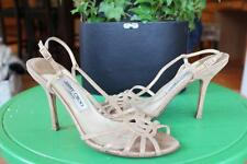 Jimmy Choo metallic gold strappy heels shoe size 38.5 /8.5    (TACO600)